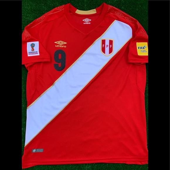 533e76157 2018 Peru away soccer jersey Guerrero Umbro Futbol